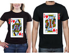 Couple Matching T-SHIRT King and Queen Play Card Couple Shirts Mr and Mrs Love