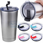 2 PCS Splash Spill Proof Lid for RTIC YETI Ozark Trail Rambler 20 Oz Tumbler Cup