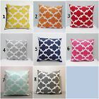 "20x20 & 22x22 "" inch FYNN Quatrefoil EURO SHAM PILLOW CASE CUSHION COVER"