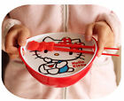 New Hello Kitty Binaural Soup Bowl Instant Noodles with Cover and Chopstix