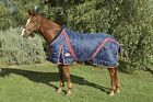 ***WEATHERBEETA DIAMOND QUILT NAVY RED STANDARD NECK STABLE RUG 400G HEAVY***