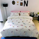 1000TC Egyptian Cotton Colorful Feather Embroidery Quilt Doona Duvet Cover Set