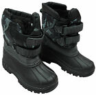 Boys Army Camo Winter Fleece Lined Trainer Snow Boots UK Shoe Sizes 6 to 12