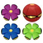 Novelty Flying UFO Flat Throw Disc Ball Outdoor Game With Light Toys Flat Kids
