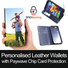 RFID Protected Personalised Custom Leather Wallet Print Cover for Samsung Galaxy