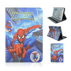 Cool Superheros PU Leather Stand Flip Folio Smart Cases Cover For iPad Tablets