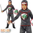 Deluxe Knight Boys Fancy Dress Medieval Tudor Book Day Week Childs Kids Costume