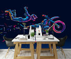 3D Motorcycle Rider 1689 Wallpaper Decal Dercor Home Kids Nursery Mural Home