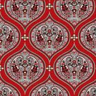 SUBTLE CHARM RED PAISLEY PODS CHOICE FABRIC QUILT SEWING CRAFT FREE OZ POST **