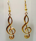 Treble Clef Music Musical Note Earrings Silver Gold Plated *Fast Ship fr Sydney