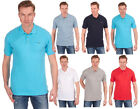 Mens Plain Pique Polo T Shirt Tee Top Pocket Cheap Holiday Top Chambray Trims