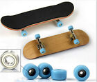 Complete Wooden Fingerboard Finger Skate Board Grit Box Foam Tape Maple Wood8O7