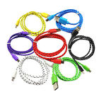 1M/2M/3M Braided Micro USB Data Sync Charging Cable For Samsung Xiaomi Huawei LG