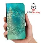 RFID Protected Mandala C PU Leather Wallet Custom Case Cover for Apple iPhone