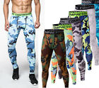 Mens Workout Gym Apparel Under Tights Compression Base Layer Jogging Long Pants
