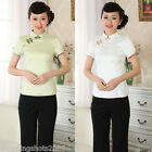 chinese jacket Cotton printing short sleeve Top blouse size 30-38 clothes 140902