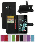 New Litchi Leather slot wallet stand flip Cover Skin Case For HTC U PLAY