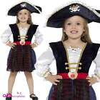 Pretty Deluxe Glitter Pirate Girl Kids Buccaneer Fancy Dress Costume 4-12 Years