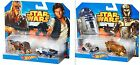 Hot Wheels Star Wars R2D2, C3P0, Chewbacca and Hans Solo Diecast Cars