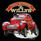 Hot Rod T Shirt Nostalgia Drag Racing Supercharged 41 Willys Gasser Small to 6XL