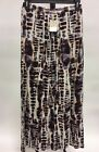 Lucy and Laurel Maxi Skirt Brown/White/Beige Tie Dye New Small/Medium/ Large