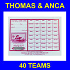 25 Charity Fundraising Football Scratch Cards 20, 30, 40, 60 or 80 Teams