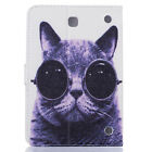 Cat Flip Stand Leather Tablet Wallet Case Cover For Samsung Galaxy Tab