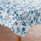 NEW ~ Flower Vinyl Table Cover Round Oval Oblong Flannel Backed