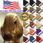 PU Seamless Tape in Skin Weft Virgin Remy Human Hair Extensions US Location Ship