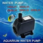 New 2800L/H Submersible Water Pump Aquarium Pond Pool Fish Tank Fountain