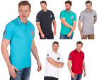 Mens Urban Revival Polo Horse Applique T Shirt Tee Casual Holiday Top PLUS SIZES