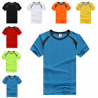 Men's Stretch Gym Sport Cycling T-Shirt Short Sleeve Tee Breathable Quick Dry