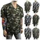 Men's T-Shirt Plain Crew Neck V-Neck Military Camo Hunting Basic BIG & TALL S-5X image