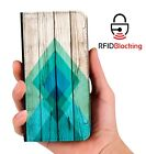 Green Pattern Luxury Flip Cover Wallet Card PU Leather Phone Case Stand Galaxy
