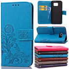 Flip Leather Cover For Samsung Galaxy Note 5 4 3 Case With Kickstand Wrist Strap