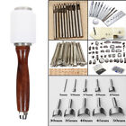 Vintage Leather Craft Tools Kit Punch Puncher Cutter Stamp Working Hand Tools US