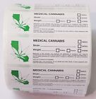 (California Compliant) Rx Medical Marijuana Labels 420 Cannabis Stickers CA.