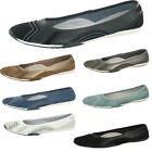 Womens Leather Down to Earth Ballet Shoes Pumps Slip On 100% Leather BNIB