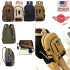 Men Retro Generation Canvas Backpack Rucksack Travel Sports School 00012 Hiking Bag