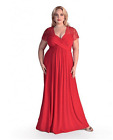 Maternity Evening Dress, Lace Top Maxi Gown, Baby shower, 18-34, Plus Size dress 001