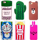 3D Cartoon Animals Silicone Rubber Gel Soft Case Cover For iPhone Samsung A5 17