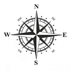 Nautical Rose Compass Waterproof Vinyl Car, Boat,4x4, Van Sticker Decal