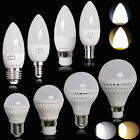 NEW 1/6/12x 3W 5W 6W 7W 9W B22 B15 E14 E27 LED Globe Bulbs SMD Candle Light Lamp
