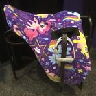 My little pony fleece saddle cover, ride on saddle cover, Childrens fleece saddl