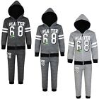 Kids 2-Piece Set Jogging Bottoms Hooded Top Player Print Tracksuit 3-14 Years