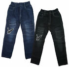 Boys Eagle Motif Denim Combat Pocket Fashion Jeans 2 to 12 Years