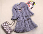 100% Real Genuinel Knitted Mink Fur Coat Jacket Outwear Collar Waistcoat Fashion