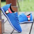 New Fashion Sneakers Mens Breathable Canvas Running Athletic Sport Casual Shoes