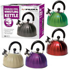 New 3ltr Whistling Kettle Gas Electric Hob Camping Kettle