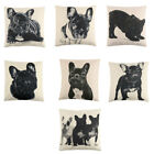 Living Room Cotton Linen Dog Pattern Sofa Seat Back Cushion Cover 18 x 18 inches